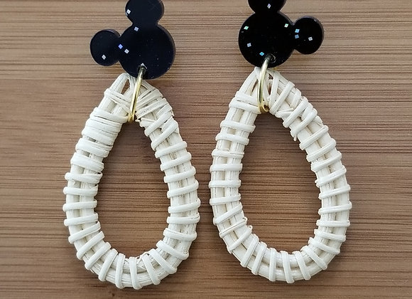 Straw M Earrings