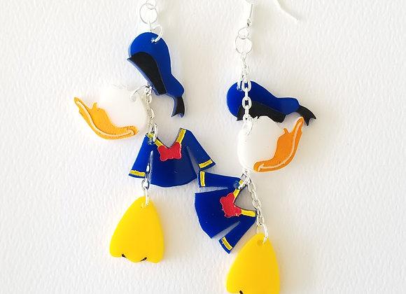 D Duck dangle earrings