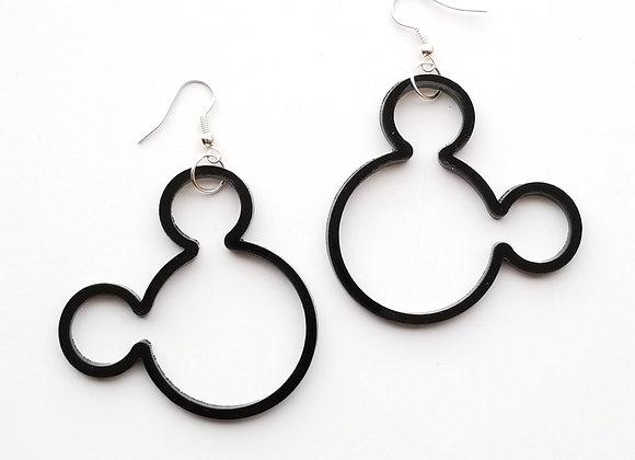 See-through Mickey earrings