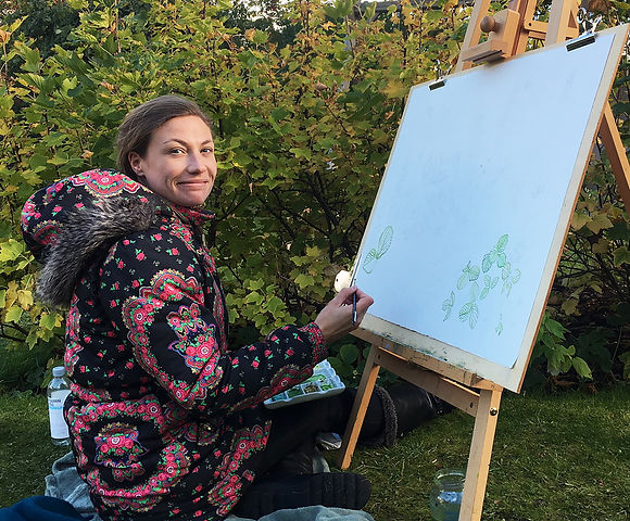 Elspeth Cornish - painting en plein air.