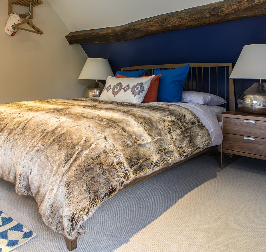 Cotswold Retreat | Blue Bed .jpg