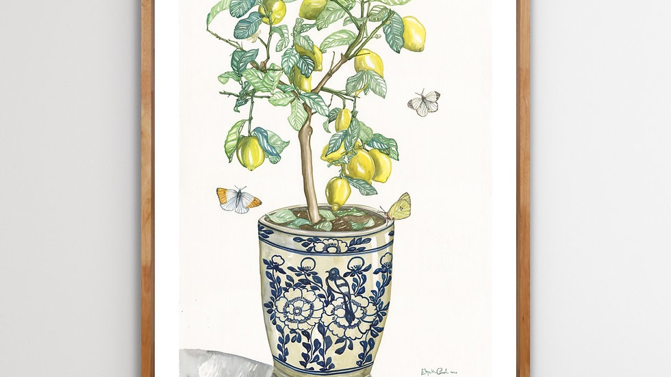 Lemon Tree & Butterflies | 60 x 80 | Limited edition print signed