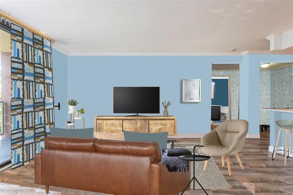Living room design collage