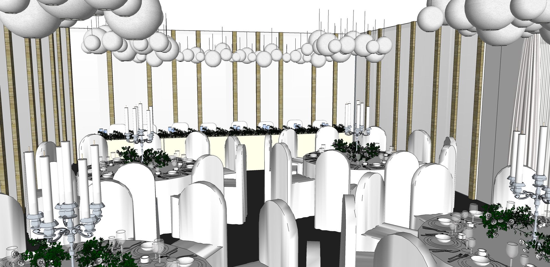 Dining Room View of Head table