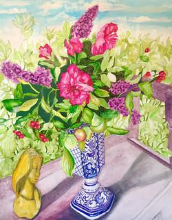Garden Flowers & Mary