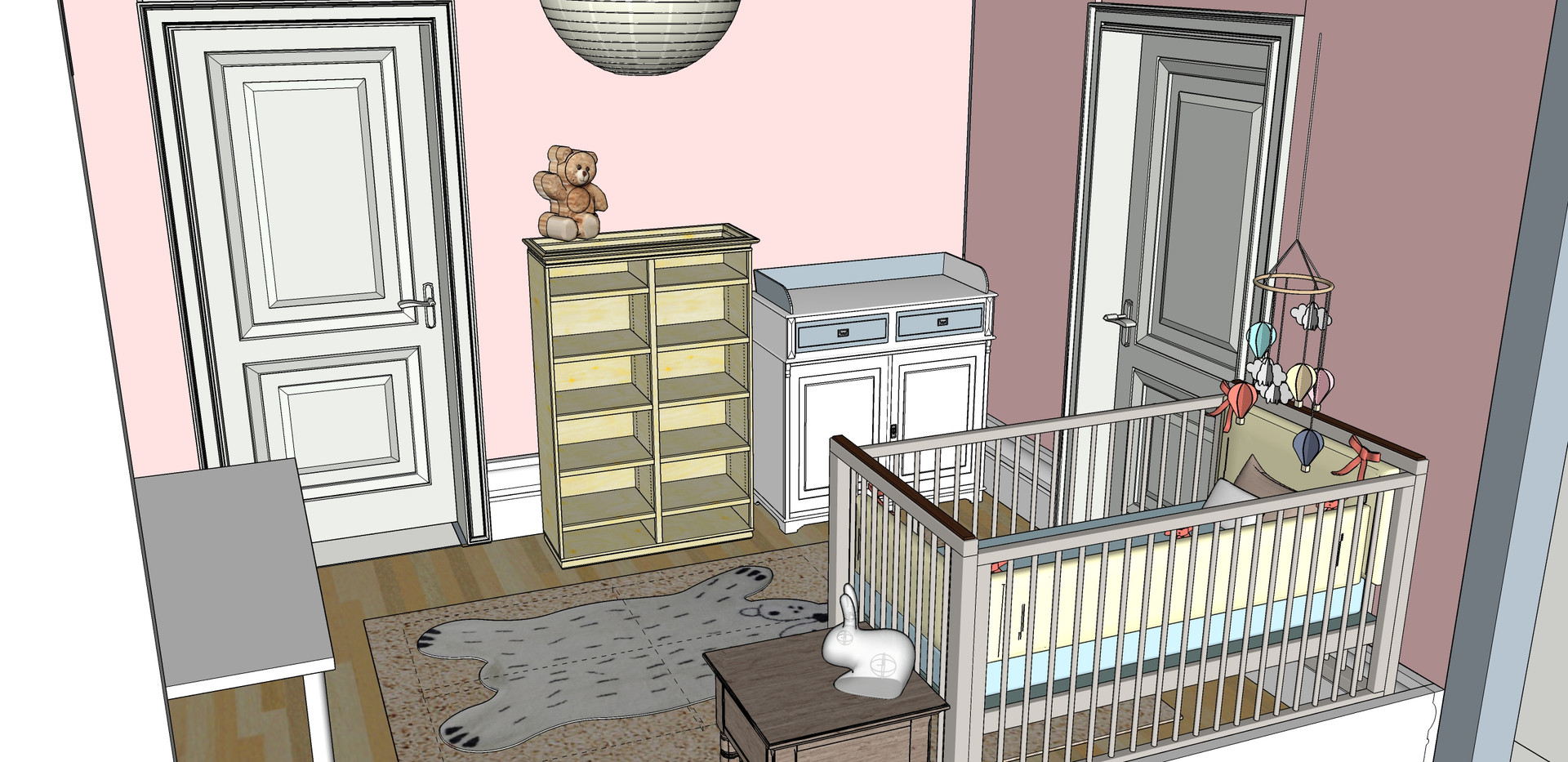 Baby Room - Furniture layout - Changing