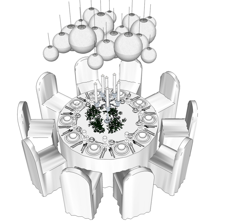Table design 1.76m diamater 10 people