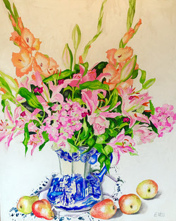 Hydrangeas Bouquet with Pears