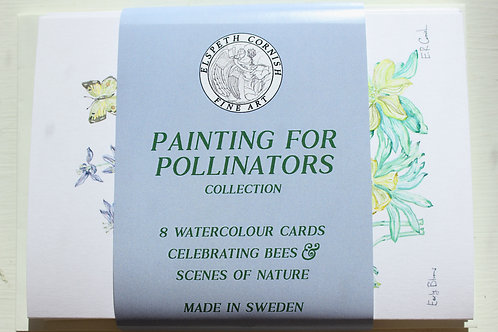 Painting for Pollinators | set of 8 watercolour cards