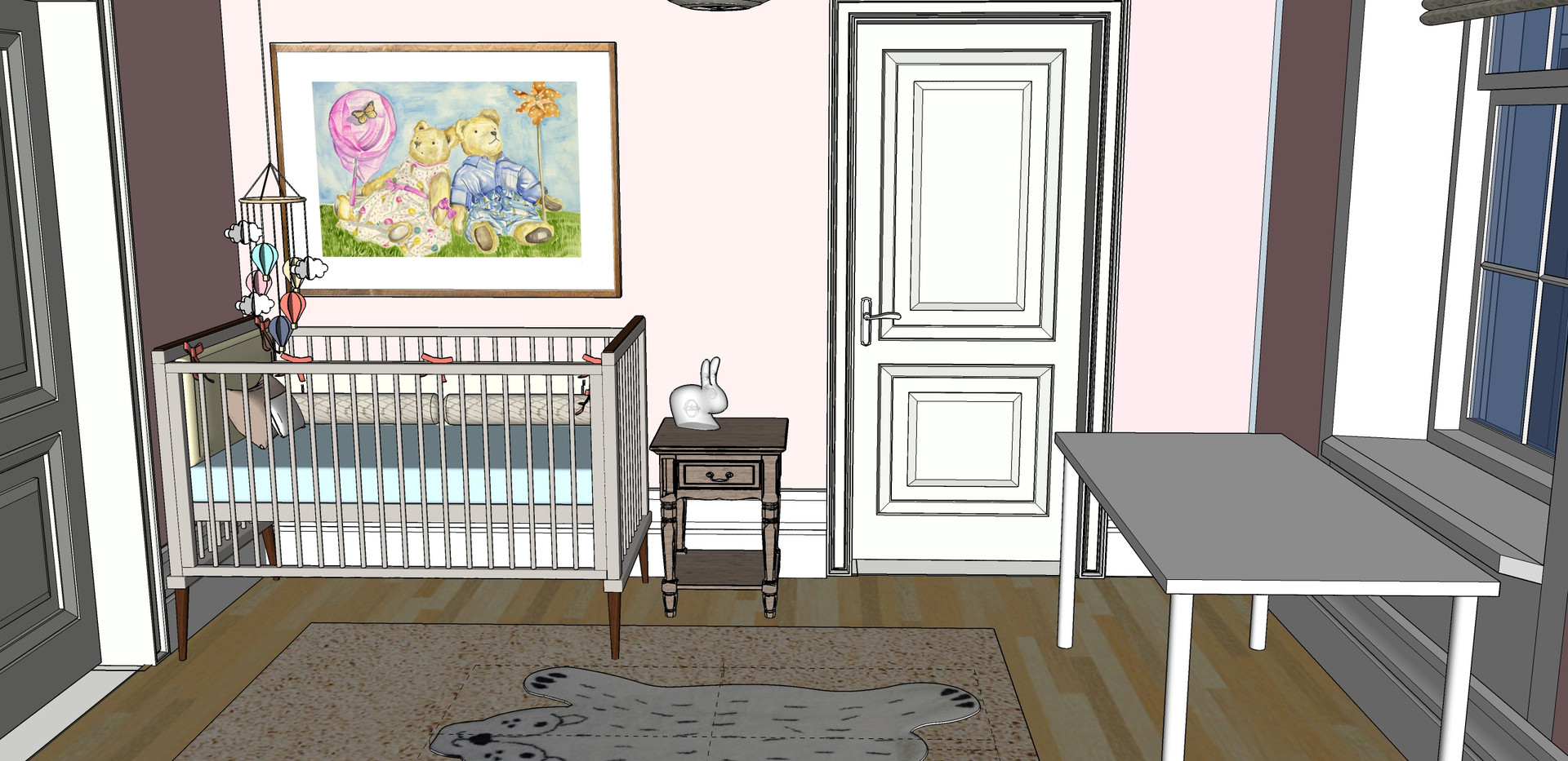 Baby Room - Furniture layout - Cot Eleva