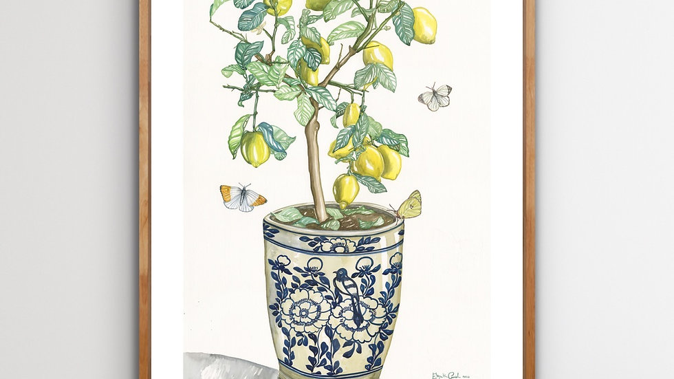 Lemon Tree & Butterflies | 70 x 100 | Limited edition print signed