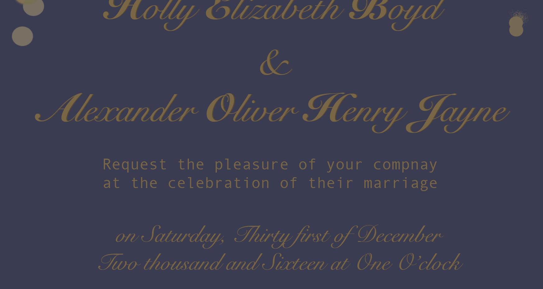 Holly & Alex Wedding Invitation Design.j