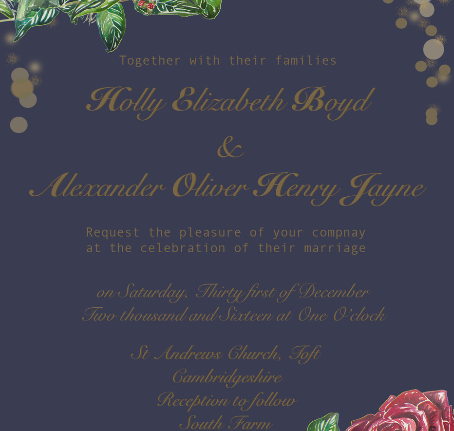 Holly & Alex Wedding Invitation Design.j
