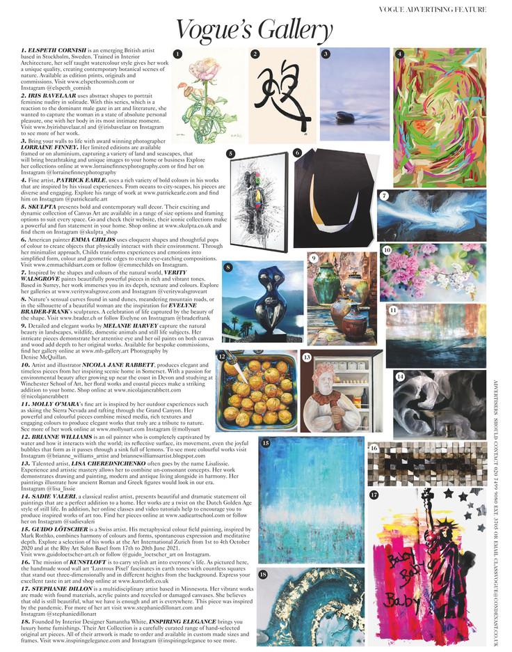 Vogue August 2020 Issue - Vogue's Galler