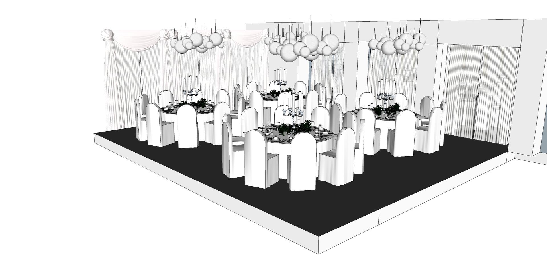 Side dining room design