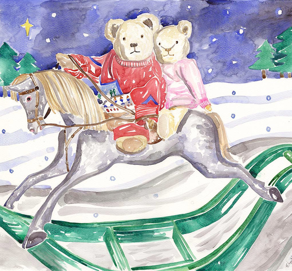 Bears on horse back - Elspeth.jpg