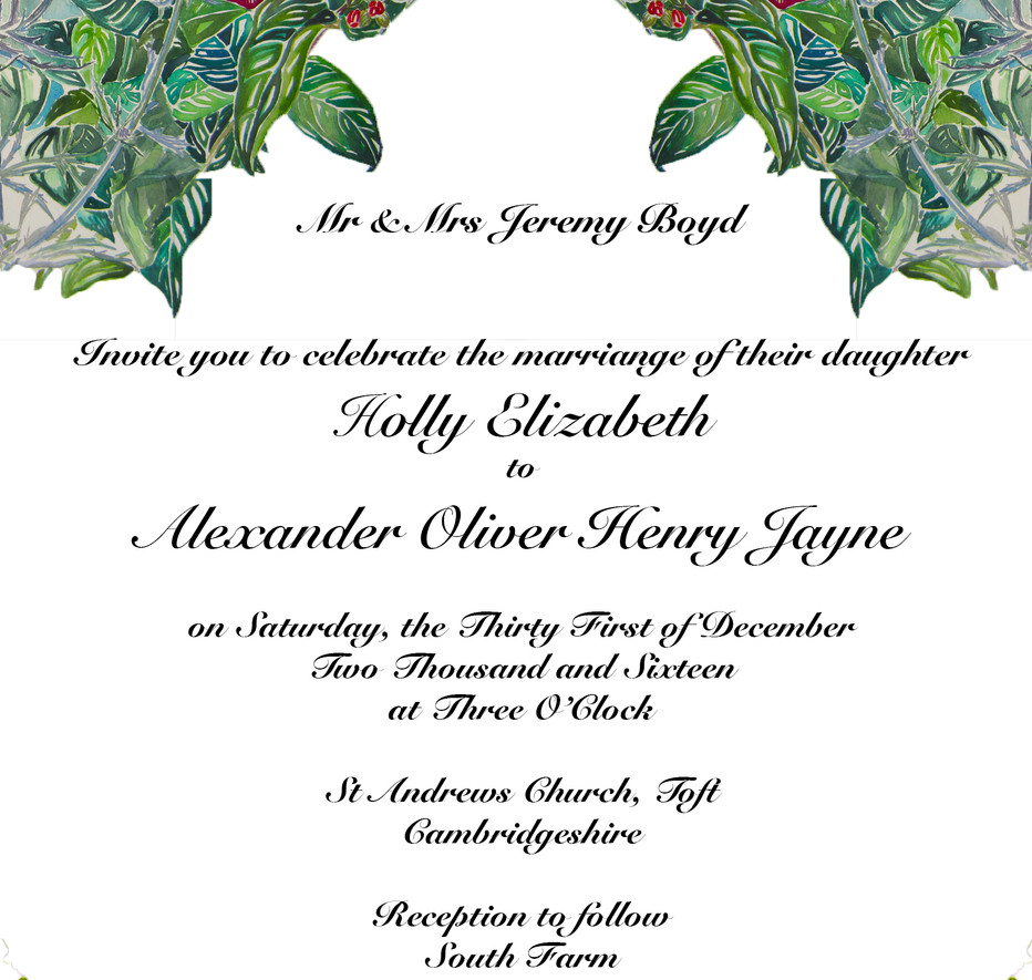 Holly & Alex Wedding Invitation - 1st Dr