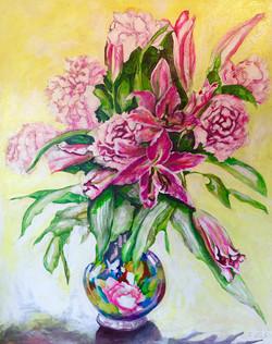 Peonies & Lilies in a Vase