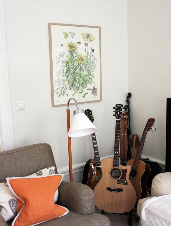 Sunflower & Lavdender - hanging in artis