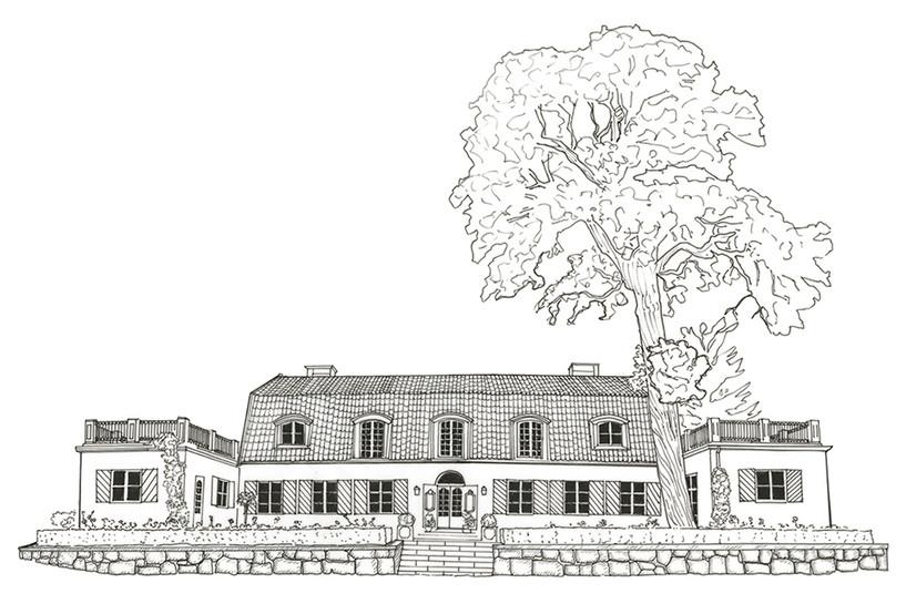 Brunnsgarden House Drawing