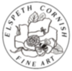 ELSPETH CORNISH FINE ART - Flower Logo .