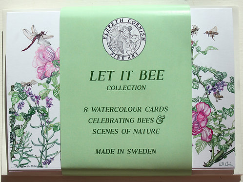 Let it Bee | set of 8 watercolour cards
