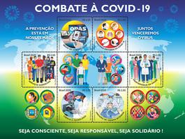 Correios lançam selos sobre COVID-19 em parceria com a OPAS