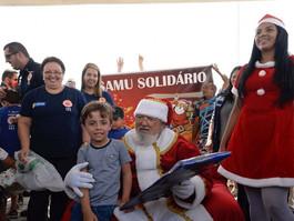 Samu recebe doação de brinquedos para ação solidária com crianças