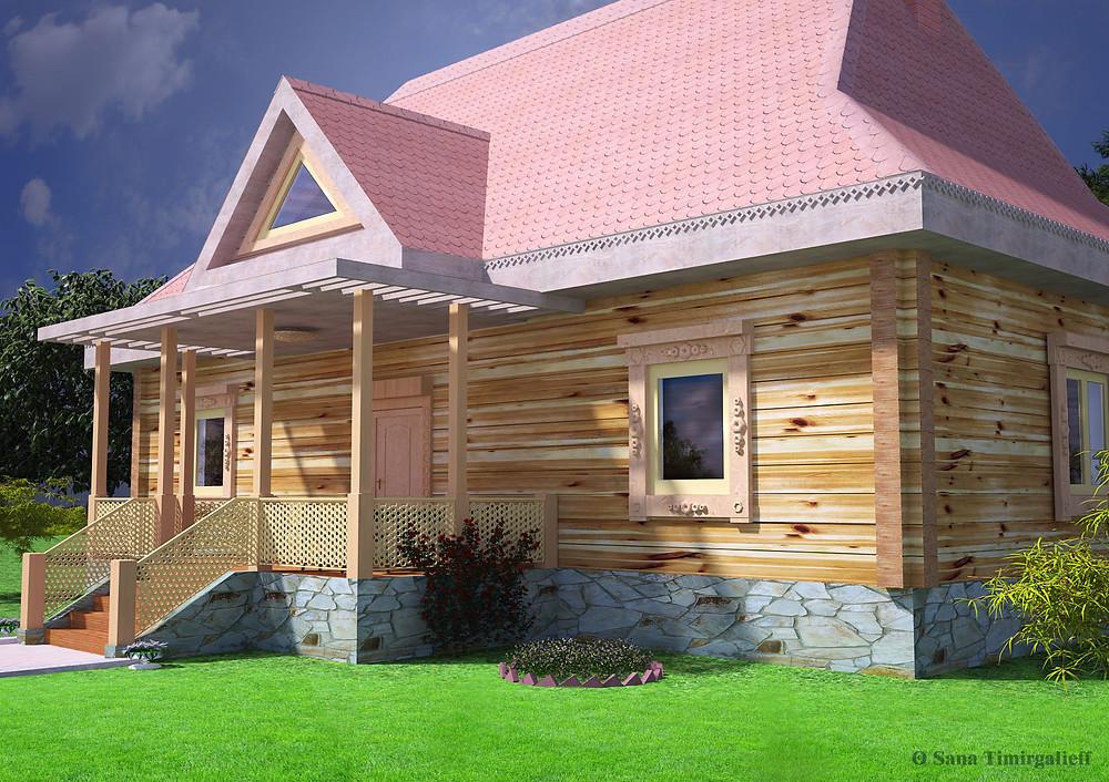 Деревянные дома, дом для сада