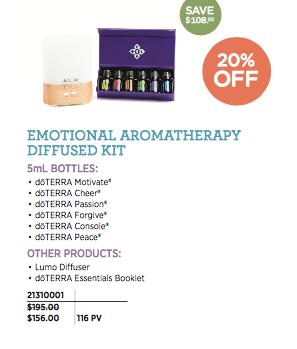 emotional aromatherapy diffused kit