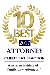 2017 Top 10 Member of the American Institute of Family Law Attorneys.
