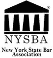 Logo for the The New York State Bar Association is a voluntary bar association for the state of New York.