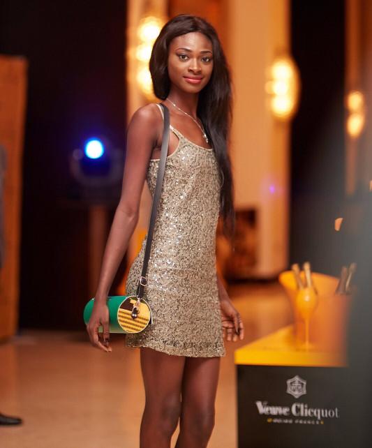 La borsa KxK by Archigiana indossata da Sandra Pearson al Ghana Fashion Week 2015