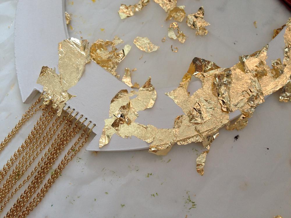 Applicazione foglia oro