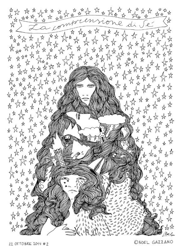 Noel Gazzano (2014) La comprensione di Sé (2014) China su carta, 35x25cm