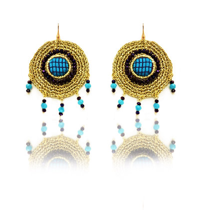 "KxK Turquoise ""Cupolette"" earrings"