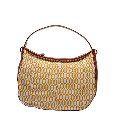 Maxi Bag Gold con manico in pelle