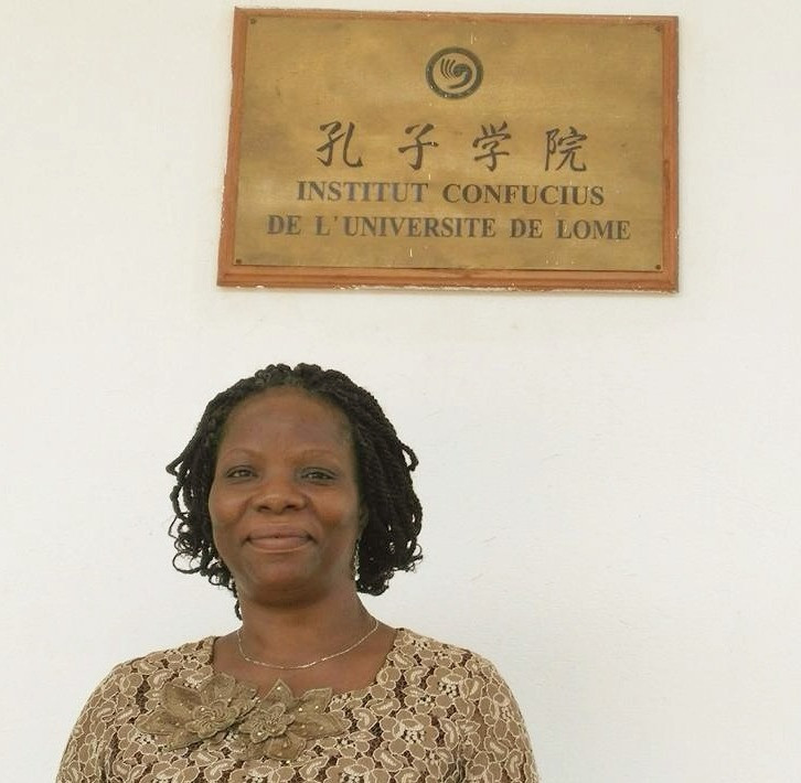 Madame Koutchoukalo Tchassim, poetessa, docente di Letteratura africana e direttrice dell'Istituto Confucio all'Università di Lomé in Togo.