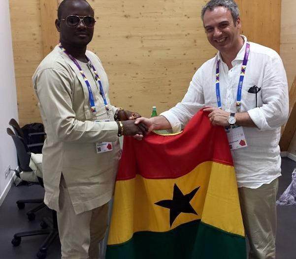 Da sinistra: Stephen Martey Apedo e il Console Onorario del Ghana in Sicilia, l'Avv. Francesco Campagna