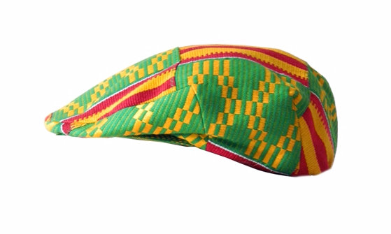 Theresa  Kufour Sicilian Cap in Kente