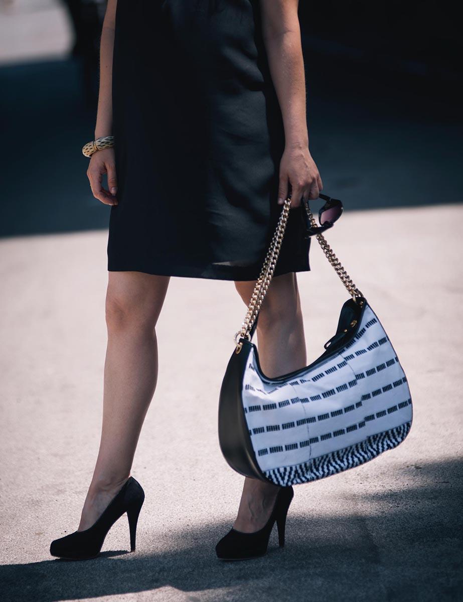 Maxi Bag KxK Black&White Stripes