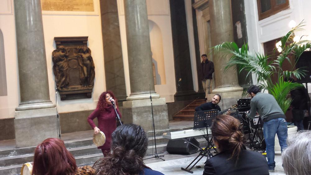 L'esibizione di Costanza Licata e Davide Velardi