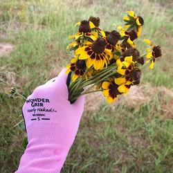 Wonder Grip on Wildflowers! #wonderwoman #flowerpower #weedsareflowerstoo