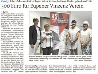 """Robert-Schuman-Institut lud zur Aktion """"Lackieren für den guten Zweck"""""""