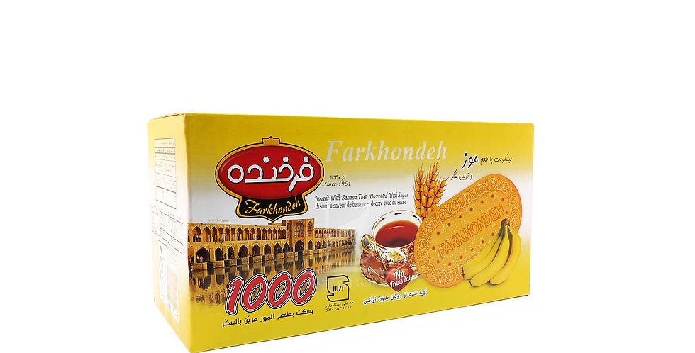 FARKHONDEH BISCUITS - Bananen Geschmack - بیسکوئیت فرخنده با طعم موز