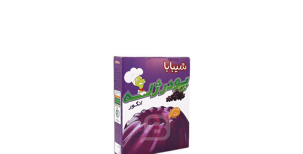 SHIBABA - Götterspeise (Traube) - پودر ژله انگور شیبابا