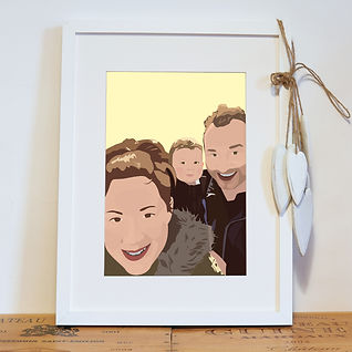 Bespoke family portrait using your photos