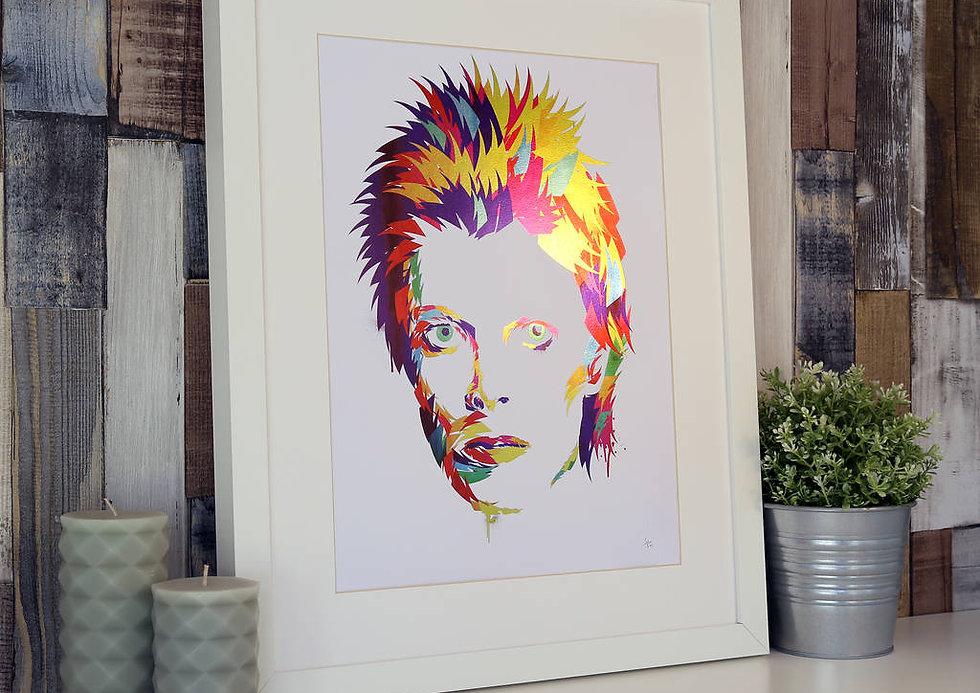 Limited Edition David Bowie Foil Print