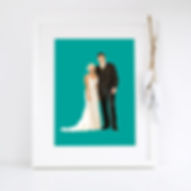 Bespoke wedding portrait using your photos