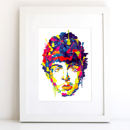 This Cool And Contemporary Illustration Of Iconic Musician Paul McCartney Would Make The Perfect Gift For Any Beatles Fan Or Simply As A Fantastic Artwork